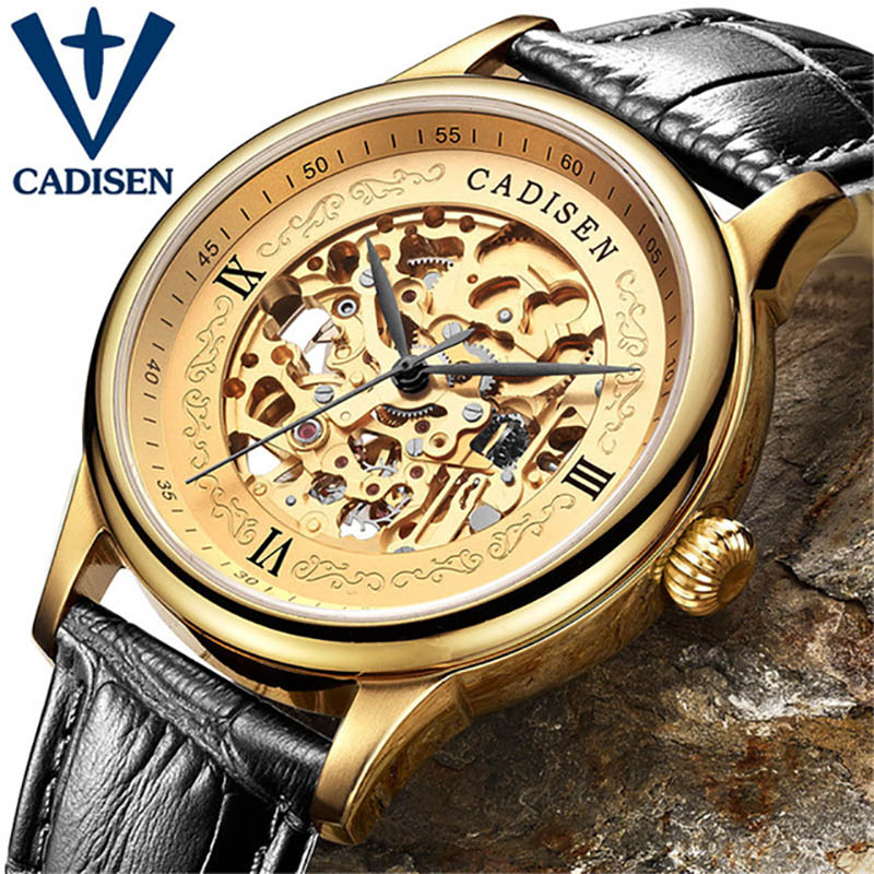 2016 Luxury Brand Luxury watch Men Automatic Skeleton Mechanical Military Watch Male watch business casual Leather Watch ultra luxury 2 3 5 modes german motor watch winder white color wooden black pu leater inside automatic watch winder