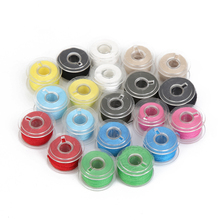 20Pcs Colorful Sewing Threads with 20 Grids Clear Plastic Sewing Machine Bobbins for Sewing Machine Domestic Sewing Tools