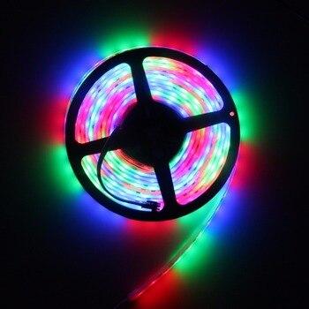 DC12V LED Pixel RGB Strip Full Color Smart IC WS2811 30/60LEDs/10/20 pixels/m Digital Waterproof LED 2811 Strip light 5m dc12v ws2811 2811 ic 5050 smd independent addressable rgb led pixels strip 30leds m dream magic color led pixels with control