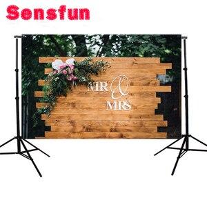 Image 3 - צילום רקע מותאם אישית שם עץ תפאורות חתונה רקע תמונה סטודיו ויניל 7X5FT