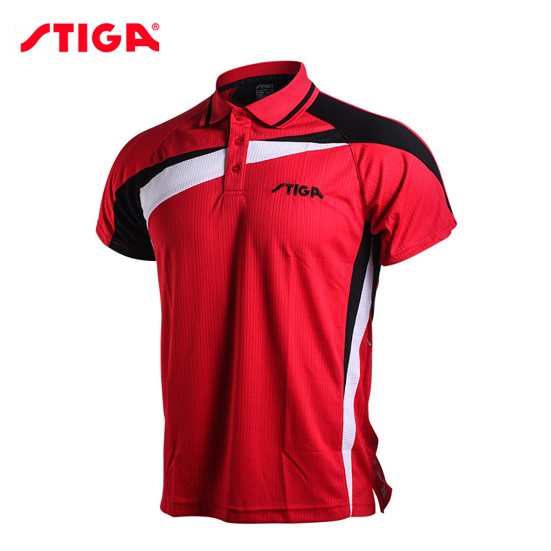 Stiga Sportswear Shirt Table-Tennis Ping-Pong Badminton Men Short-Sleeved Quick-Dry Genuine