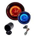 "2"" 52mm Turbo Boost Vacuum Gauge psi 12V Car Blue Red LED Light Tint Lens Auto Digital Meter + Gauge Mount Pod Holder Universal"