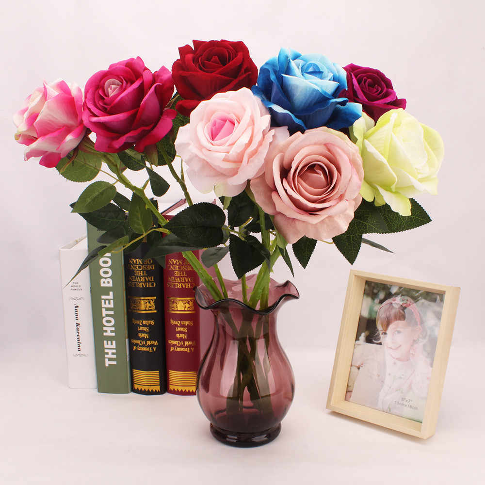 Tulipán flor Artificial rosa azul Rosa PU látex Real toque Boda nupcial ramo decoración del hogar flores artificiales сухоцвет