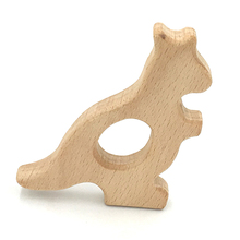 Baby Teething Toy Wooden kangaroo Teething Toys New Born Gift wooden Rattle Natural font b Organic