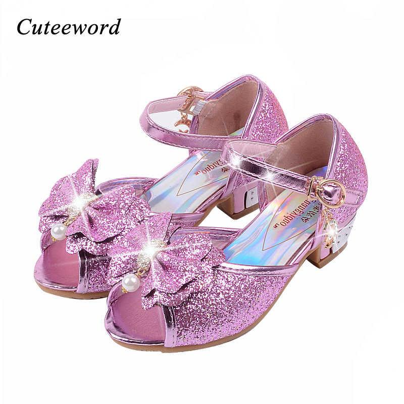 High heel shoes Pink gold blue sandal