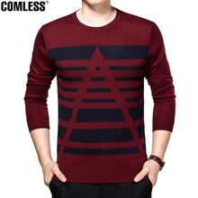 2016 New Autumn Fashion Brand Casual Sweater O-Neck Striped Slim Fit Knitting Mens Sweaters And Pullovers Men Pullover Men 3XL