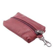 100% Genuine Leather Key Holder Car Key Wallets Men Keys Organizer Housekeeper Women Covers Zipper Key Case Bag Pouch Purse