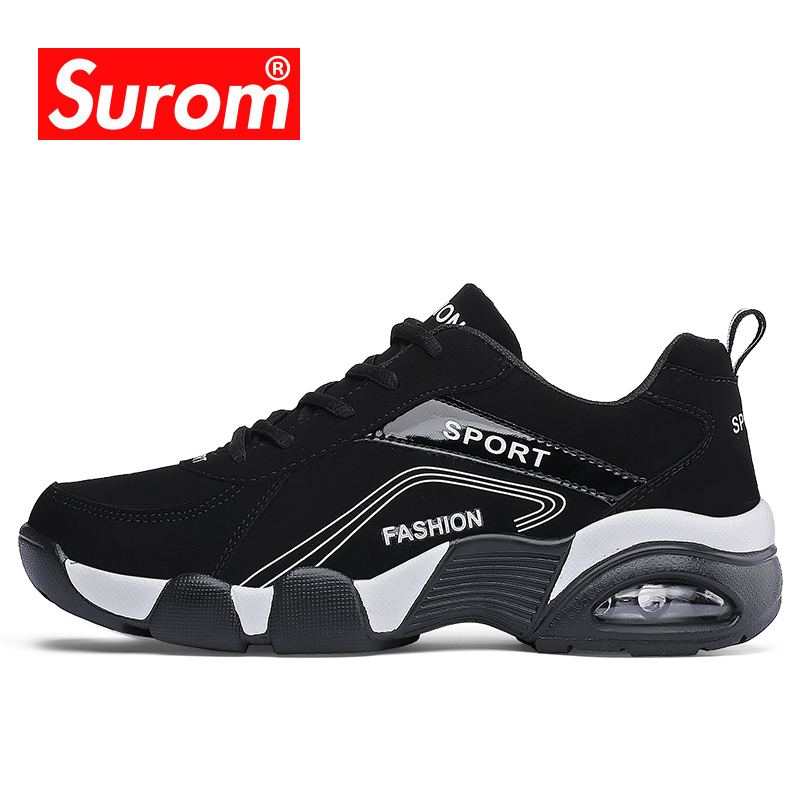 SUROM Luxury Brand 2018 Summer Men Sneakers Sport Outdoor Running Shoes Comfortable Cheap Breathable Krasovki Jogging Shoes