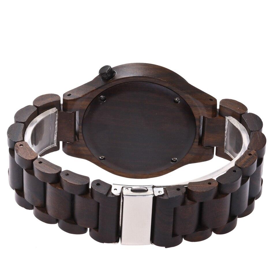 Wood watch men brand luxury