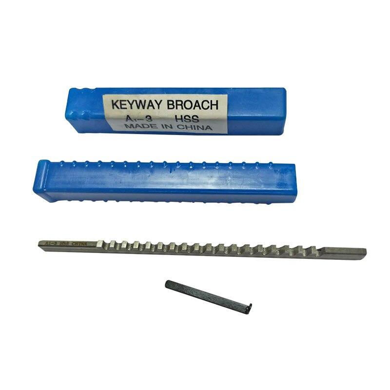 Chaveta com Calço de Aço de Alta Ferramenta de Máquina de Corte Abordar Velocidade Brochagem Ferramentas 3mm um Push-tipo Keyway Broach Métrica Tamanho Hss