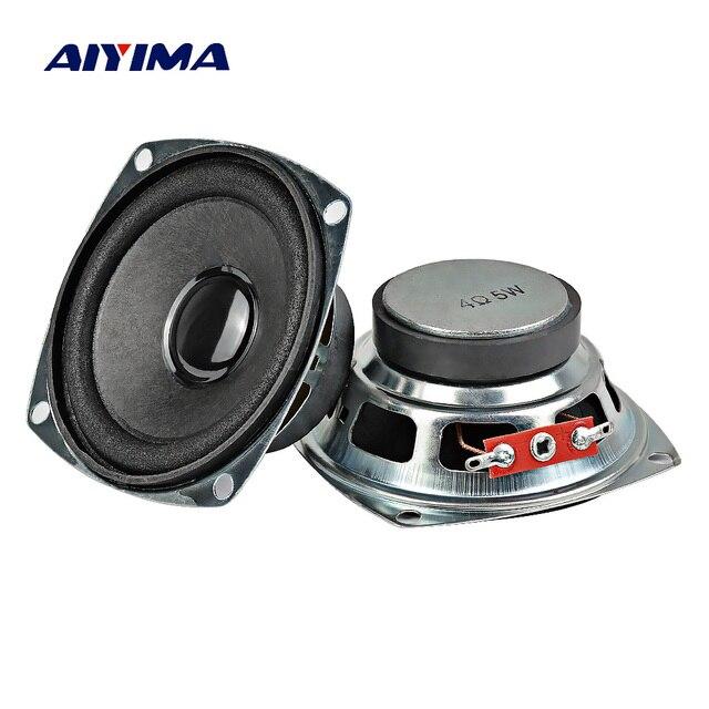 AIYIMA 2 piezas 3 pulgadas 77mm de Audio portátil de altavoces de gama completa 4Ohm 5 W DIY para Bluettoth Multimedia sistema de cine en casa de sonido
