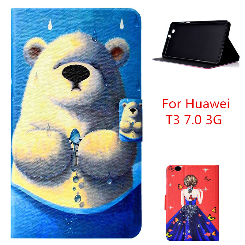font b Slim b font Folding Case cover For Huawei MediaPad T3 7 0 3G
