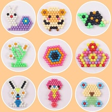 24/15/10 Colors Aqua Beads Puzzle Choice 5mm Aquabeads Perlen Magic Water Beads Puzzles Toys Educational Kids Toys Puzzle Games