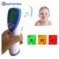 Цифровой инфракрасный Детский Взрослый Инфракрасный термометр бесконтактный пистолет с ЖК-дисплеем измеритель температуры 32 ~ 43C/90-109.4F Фун...