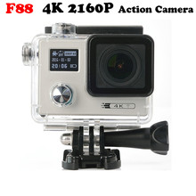В Наличии! F88 Спорт Cam 4 К 24fps Ultra HD Notavek 96660 Водонепроницаемый Действий Камеры 2.0 «Двойной Экран 2160 P Водонепроницаемый тире Камеры