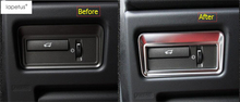 Lapetus Accessories For Range Rover Evoque 2012 - 2018 Front Head Light Headlight Switches Button Frame Molding Cover Kit Trim lapetus accessories for toyota camry 2018 2019 matte carbon fiber abs front head light switches button molding cover kit trim