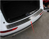 Stainless Steel Outer Rear Bumper Protector Sill Threshold Pad Pedal Tread Plate Fit for Audi Q5 car accessories car styling 1pc
