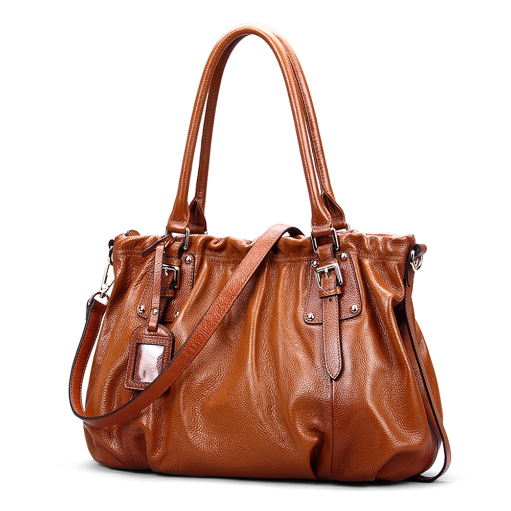 ROCKCOW Genuine leather bag for women leather bag female women s handbags  fashion shoulder bags messenger bags designer-in Top-Handle Bags from  Luggage ... 3ae81aac877b0