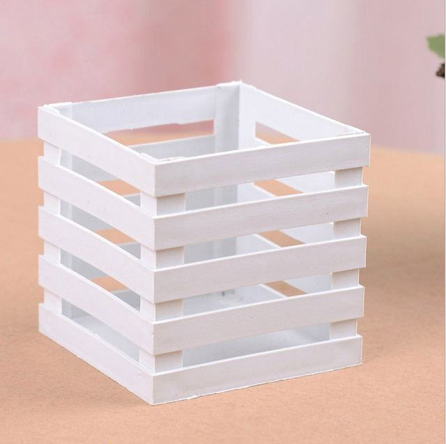 Plastic Vase Artificial Flower Square Small Fence Home Decorations