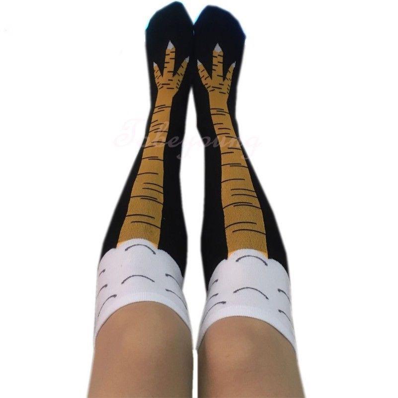 Calcetines creativos con pollo impresión del dedo del pie de las ...