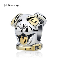 2017 Authentique En Argent 925 Perle Animale Charmes Or Chanceux chien Perles Fit Pandora DIY Serpent Bracelet & Bracelet DIY bijoux