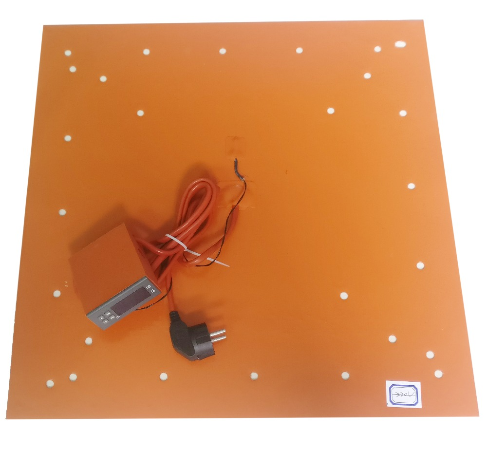 510-510mm Silicone cama aquecida pad com controlador digital para Creality CR-10S5 série deixa cama aquecida até 100C