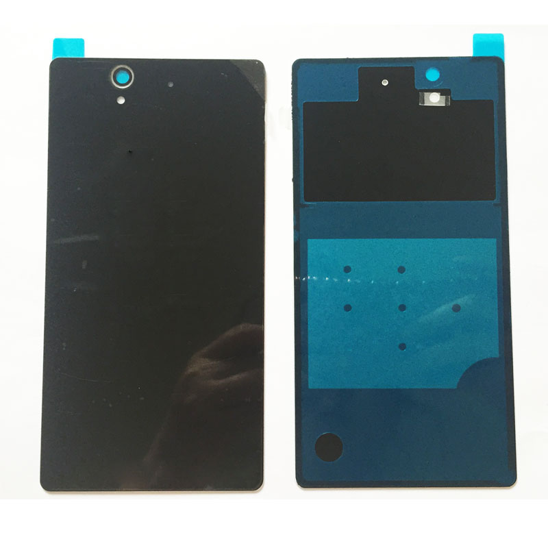 New Rear Glass Back <font><b>Battery</b></font> Cover Door For <font><b>Sony</b></font> <font><b>xperia</b></font> <font><b>Z</b></font> L36H L36 C6603 <font><b>C6602</b></font> Housing Case image