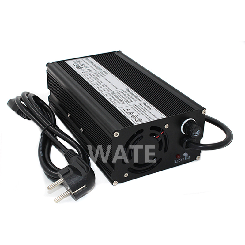 36.5V 12A Charger for 10S 32V LiFePO4 Battery electric vehicle, electic forklift,electric golf cart 16 8v 21a li ion battery charger for electric vehicle electic forklift electric golf cart aluminum shell with fan