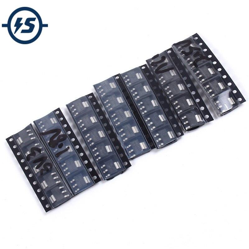 35pcs/lot 7Kinds Each 5pcs AMS1117-1.2V/1.5V/1.8V/2.5V/3.3V/5.0V/ADJ Voltage Regulator Tube Voltage Stabilizer Pack Assorted Kit(China)