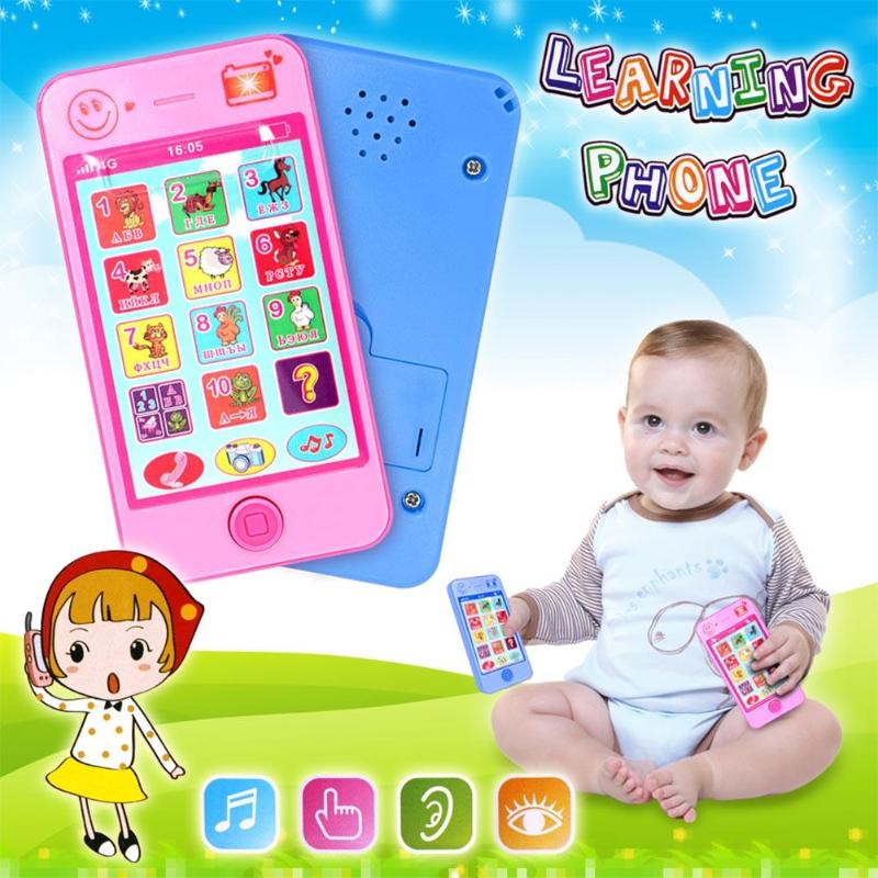 New Russian Language Kids Phone Toys Children's Educational Simulationp Music Mobile Phone Toy Phone Toys Gift For Baby Children