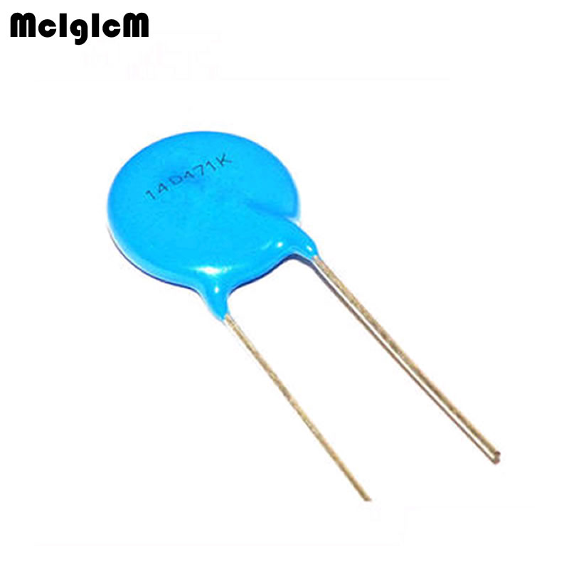 MCIGICM 20pcs Varistor 14D101K 14D241K 14D471K 14D561K 14D681K 14D821K Varistor Tvr