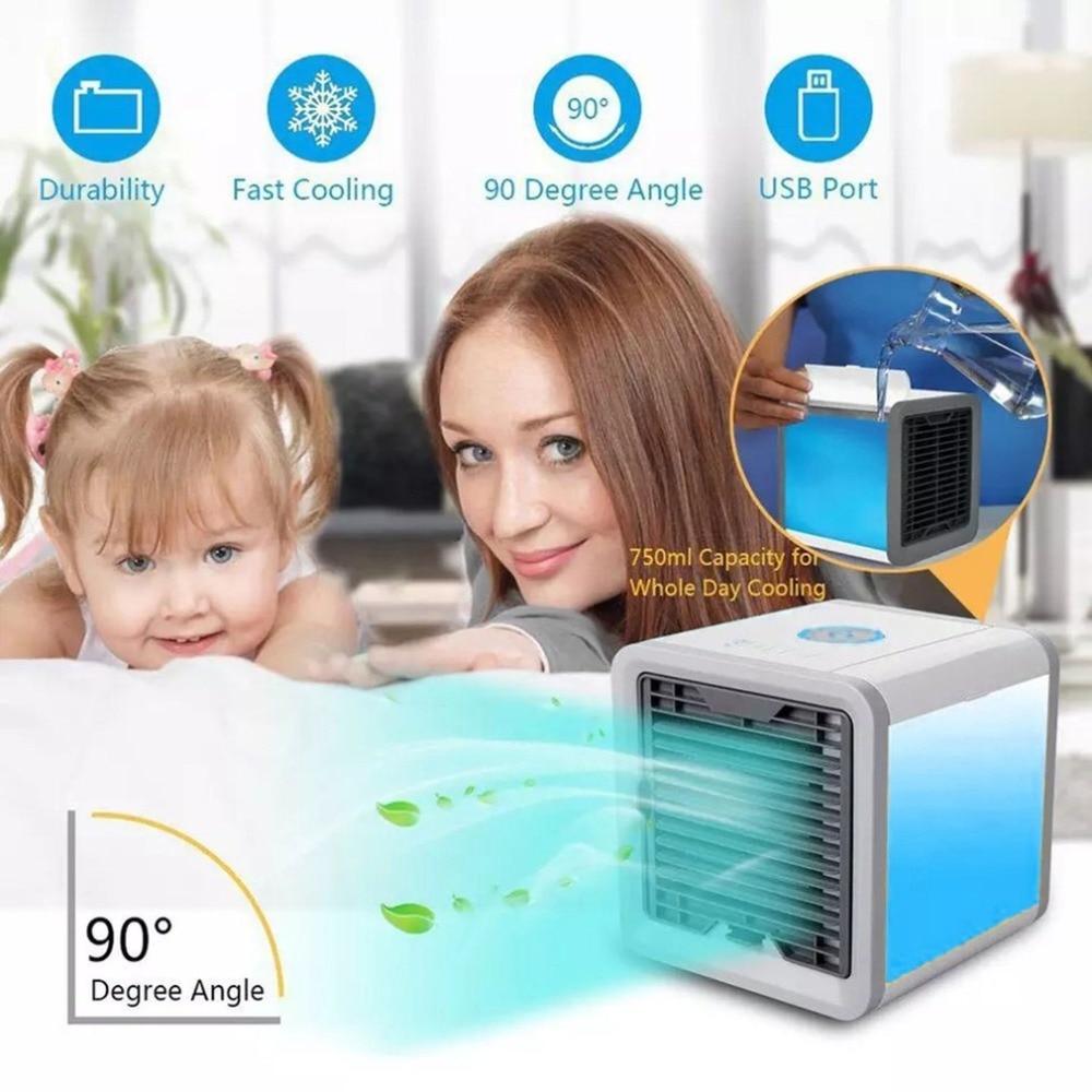 Portátil Mini enfriador de aire ártico espacio Personal de aire acondicionado con calmante luz LED humidificador de la Oficina para el hogar