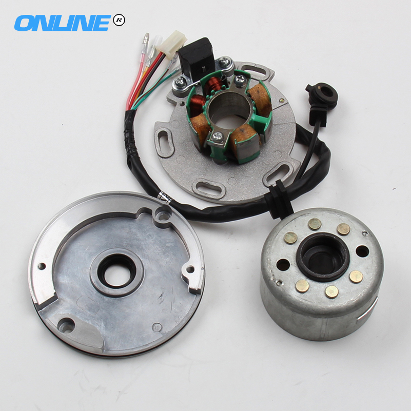 LF Lifan 150cc 8 coil Stator and Magneto Housing for Horizontal Motor Racing Stator Rotor for
