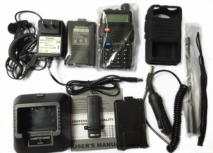BaoFeng UV-5R Walkie Talkie VHF/UHF136-174&400-520Mhz+Battery Case+Car Charger+Soft Case Handy Hunting Radio Receiver +HeadfoneBaoFeng UV-5R Walkie Talkie VHF/UHF136-174&400-520Mhz+Battery Case+Car Charger+Soft Case Handy Hunting Radio Receiver +Headfone