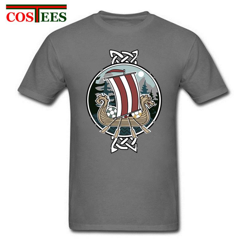 c8b28ec8c Classy Scenic nordic vikings dragon T Shirts Men 100% Cotton Short Sleeve  Real Tops Tees Viking T-shirt Madrid funny t shirt man