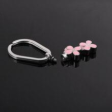 Pink Flower Urn Keychain