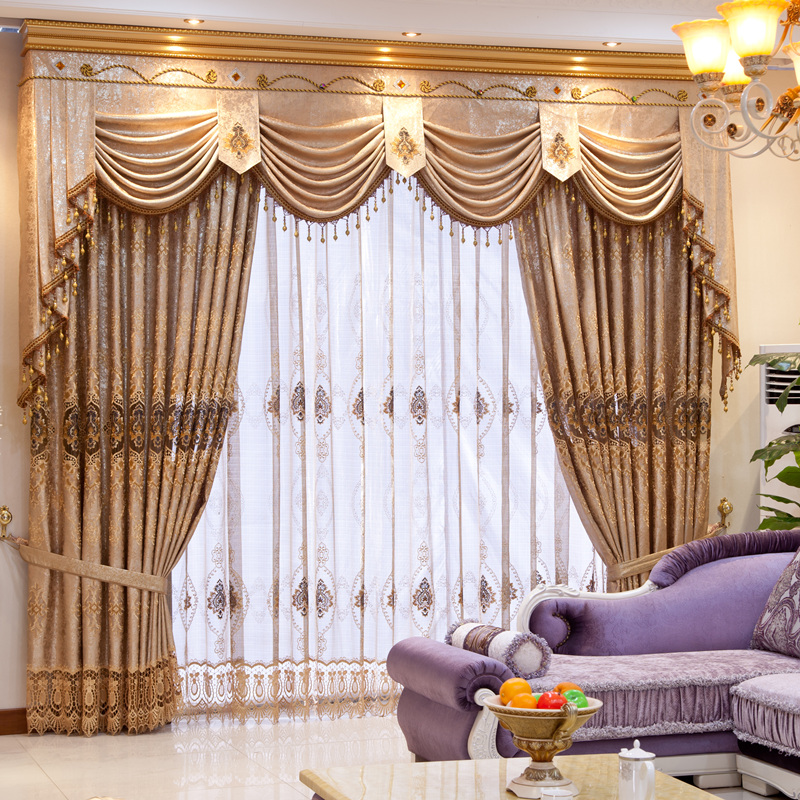 Meters quality fashion water soluble embroidered curtain cloth ...