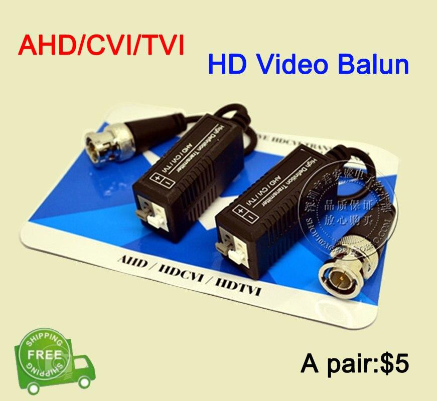 10 Pairs AHD/CVI/TVI Coaxial HD Torcida BNC Para UTP Cat5/5e/6 Transmissor FreeShipping