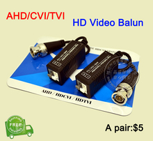 5 Pairs AHD/CVI/TVI Coaxial HD Twisted BNC To UTP Cat5/5e/6 Transmitter FreeShipping