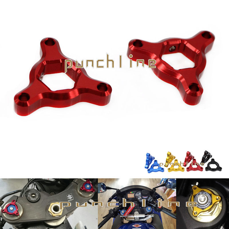 For YAMAHA YZF R6 YZF-R6 1999-2004 2006-2007 Motorcycle Accessories 17mm CNC Aluminum Suspension Fork Preload Adjusters Red for yamaha yzf r1 2004 2014 yzf r6 2006 2007 motorcycle frame mobile phone navigation mount bracket accessories