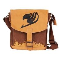 Anime Fairy Tale Boys Girls Messenger Handbag Bag Fire Printing Shoulder Bags School Book Bag Yellow Bronw