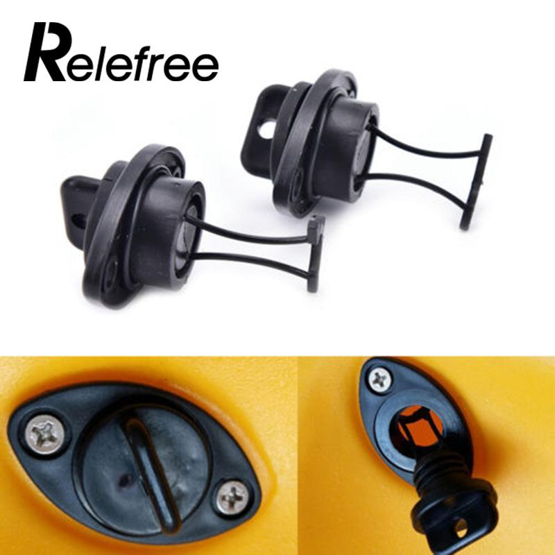 Relefree 1 Pcs Portable Kayak Drain Plug Set Plugs Bung Thread For Dinghy Kayak Canoes Boat PP Fish Universal