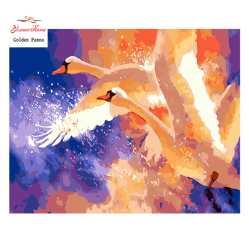 Golden Panno,Needlework,DIY DMC 14CT Cross stitch Kit, Pattern Embroidery Cross-stitch Painting,crafts,Christmas,swan 1024