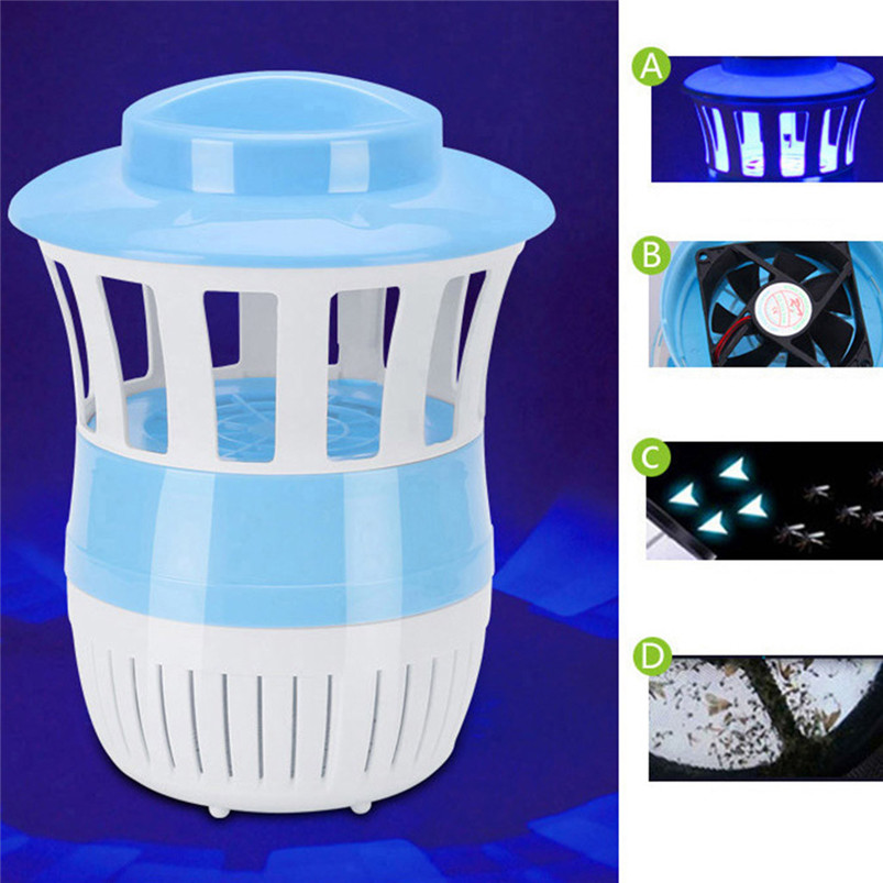 USB Mosquito Killer Desk Lamp Insect Fly Bug Zapper Trap Pest Control LED Light