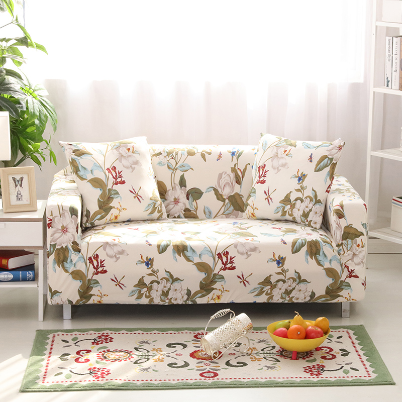 Great Light Sofa Cover Elastic Sofa Cover Sofa Slipcover Design Plant Reactive  Print Furniture Protector Soft For