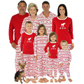 4 Sets Cotton Christmas Costume Men Women Print Home Wear Pajamas Sets Family Matching Outfits Children Baby Clothing Sleepwear