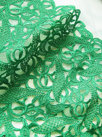Green Lace fabric for bridal, costume, crocheted net venise lace sewing diy supplies african lace fabric