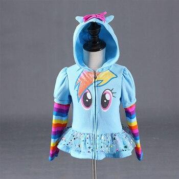 Invierno 2018 niñas sudaderas con capucha My Little Kids sudadera chaquetas bebé Sudadera con capucha diseño lindo Pony chaqueta deportiva ropa de abrigo 8Y
