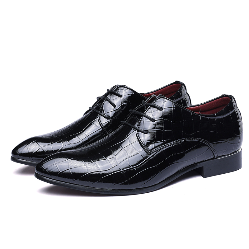 Men's Shoes Cooperative Business Man Leather Shoes Mens Cowhide Lace Up Europe Large-size 11 12 Formal Dress Oxfords Casual Office Shoes Price Remains Stable