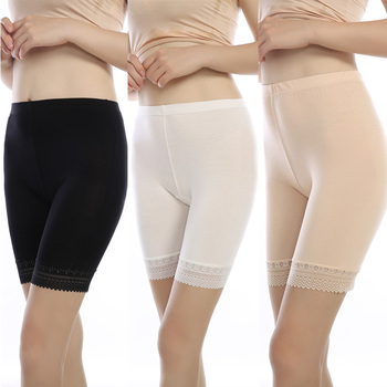 3pcs/lot soft and comfortable modal material boxer shorts safety pant for women panties big size  high waist ladies' underwear women's panties